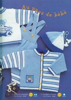 Baby Boy Knitting Patterns, Crochet Baby Dress Pattern, Baby Cardigan Knitting Pattern, Baby Dress Patterns, Knitting For Kids, Knitted Baby Clothes, Unisex Baby Clothes, Diy Jumpsuit, Baby Overall