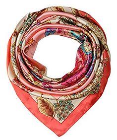 corciova Women's Satin Square Silk Feeling Hair Scarf 35 x 35 inches 2017 New Bittersweet $9.99 Free Shipping