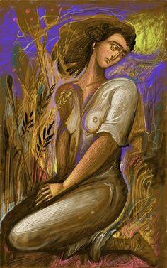 Purple Sky and Feelings - by George Kordis Painter Artist, Artist Art, Greece Painting, Baroque Art, One Step, Byzantine Art, Greek Art, Pastel, Visionary Art