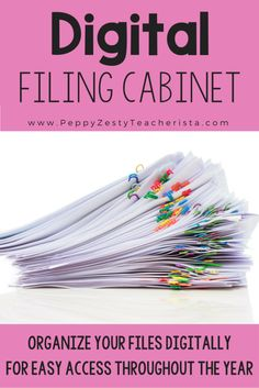 Digital Filing Cabinet Elementary teacher looking for a technology in the classroom trick to organize your classroom and files? This classroom organize trick will leave your room clutter free!