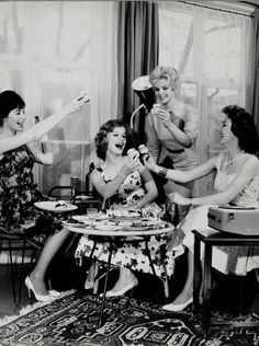 Cheers to Friday! #retro #cocktailparty see boudoirgirls.net for fun hen party ideas in Galway , Ireland