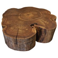 Salvaged & Reclaimed Live Edge Red Elm Coffee Table from Urban Tree Salvage!  Reclaimed Solid Wood Log Round Table or Stool by URBAN TREE SALVAGE.   One of a kind Tables created from salvaged felled Toronto trees.  Available in a variety of sizes and shapes, please visit our website for more information on our pieces at http://www.urbantreesalvage.com/shop/log-rounds