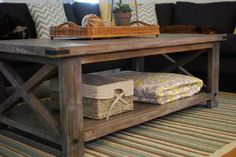 DIY rustic coffee table. I adore this. We are building it next weekend!!