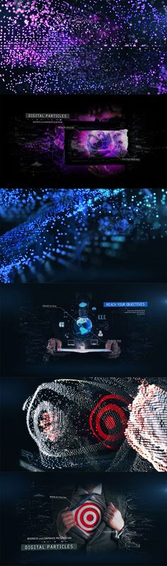 f49d4df0268 Digital Particles Slideshow is modern and professional After Effects  template specially made for hi-tech