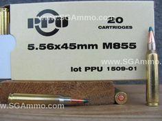 1000 Round Case - 5.56mm M855 Ammo for Sale - Prvi Partizan 62 Grain FMJ Green Tip - PP561