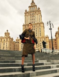 Anastasia Kuznetsova Wears Prada for Elle Russia by Nikolay Biryukov