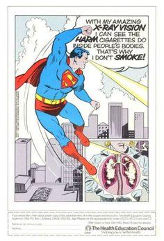 1980's Superman Anti Smoking Poster