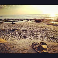 c6833dccfb6c Rainbow sandals and the ocean