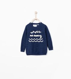 SWEATER WITH TEXT-Sweaters & Cardigans-Baby boy (3 months - 3 years)-KIDS | ZARA United States