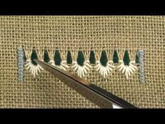 Hardanger embroidery. - YouTube