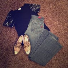 Bootcut Denim Jeans These jeans are so comfy and such a cute pair of denim to compliment any outfit. You can't pass this price up! Citizens of Humanity Jeans Boot Cut
