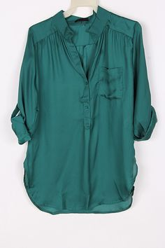 Silky Collin Shirt in Teal