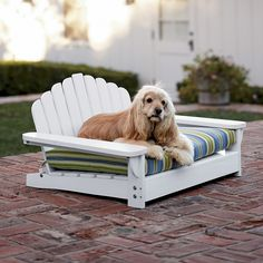 Adirondack Pet Bed ~have I mentioned my obsession w/ all things adirondack?