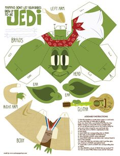 Image detail for -660 jedi star wars paper toy template Yoda Star wars