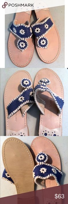 🎉Jack Rogers Sandals🎉 🎉Gently used denim Jack Rogers sandals are in great condition w/very little signs of wear, if any!🎉❌Final price❌*offers will not be acknowledged Jack Rogers Shoes Sandals