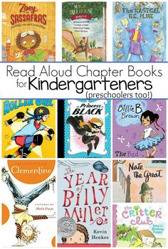Easy Read Aloud Chapter Books for Kindergarten and Preschool kids! Fun beginner chapter books for young children! Best Children Books, Books For Boys, Toddler Books, Childrens Books, Kid Books, Young Children, Kids Chapter Books, Baby Books, Homeschool Kindergarten