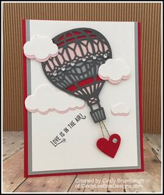 Sneak Peek von SU Lift Me Up Bundle - su-lift-me-up-valentine - Love Valentines, Valentine Crafts, Valentine Day Cards, Holiday Cards, Tarjetas Stampin Up, Stampin Up Cards, Ballon Party, Up Book, Love Cards