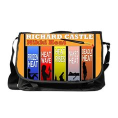 Castle Messenger Bag #NikkiHeat books from the TV show Castle, graphic art design. I love #Castle and #Beckett #RichardCastle #CastleTV In my Profile search Castle -- For this design click here -- http://www.cafepress.com/dd/90723579