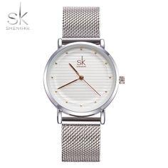 49cbdf0875d Big Discount Shengke Brand Fashion Wristwatches Women Stainless Steel Band  Women Dress Watches Women Quartz-Watch Relogio Feminino New SK