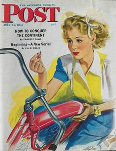 Flat Bike Tire. Saturday Evening Post, July 24, 1943 (Alex Ross)