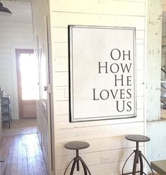Bring a the farmhouse fixer upper style into your home with this vintage Holy Spirit sign for your home, kitchen or gift. Our canvas signs fit the perfect space with many options. We know you look eve