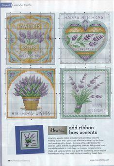 Susan Bates Lavender cards 2