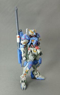 High Grade HG Gundam Barbatos Custom Build by kei-T Gundam Toys, Gundam Art, Gundam Iron Blooded Orphans, Gundam Mobile Suit, Gundam Custom Build, Barbatos Lupus, Pokemon, Gunpla Custom, Mecha Anime
