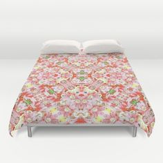 Duvet Covers featuring K-196 Abstract Pink Flowers by #Gravityx9. Hand sewn and meticulously crafted, these lightweight Duvet Cover vividly feature your favorite designs with a soft white reverse side.