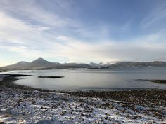 Cold but glorious winter's day at Ashaig, looking towards Broadford on the Isle of Skye January 2018