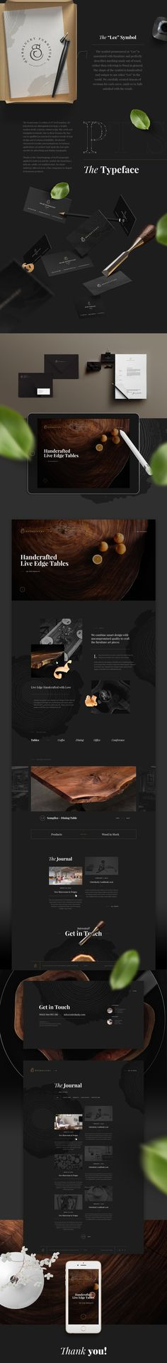 Brand design & Web design for newly established brand of luxury live-edge tables - Ostrolucky.