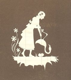 paper cutout-Alice playing croquet