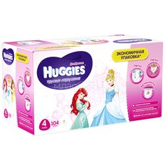Трусики Huggies Little Walkers для девочек 9-14 кг (104 шт) Размер 4