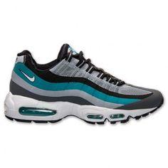 Nike Air Max 95 No Sew Men s Sneakers Dark Grey White Tribal Green  616190-003 42190fd27