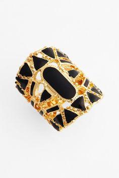 Patchwork enamel ring