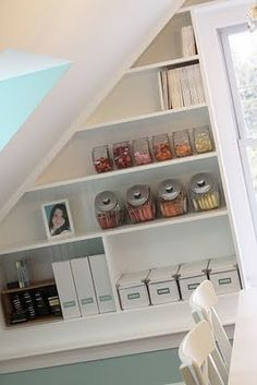 @Margaret Hager - Neat idea - Shelving in the basement cubby under the stairs - could work for office storage...?