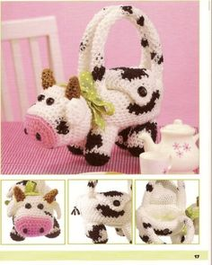 Crochet animal purses. Website in Chinese (?) Characters, but patterns are in English (?)