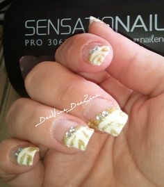 french manicure, French tip, zebra nailart, wedding nails