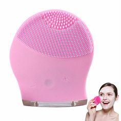 De silicona Eléctrica Lavador Ultrasónico Limpiador Facial Limpiador Removedor de La Espinilla de Limpieza Facial Brush Cepillos Cuidado de La Piel