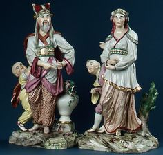 Chinese Emperor and Attendant, ca. 1767   Germany, Ludwigsburg Porcelain Manufactory, Joseph Weinmüller (born 1743, active at Ludwigsburg 1765–67)   Hard-paste porcelain Dimensions: H. 29.2 cm  New York, Metropolitan Museum of Art, 1982.60.207