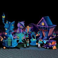 Tim Burton's Nightmare Before Christmas Black Light Village Collection @Ashley Martin