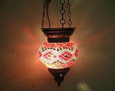 Red moroccan lantern mosaic hanging lamp glass chandelier light turkish candle holder h 85 handmade_antiques http://www.amazon.com/dp/B01EHTT3KW/ref=cm_sw_r_pi_dp_KX2fxb18T288R