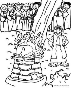 Elijah And The Prophets Of Baal (Coloring Page) Coloring pages are a great way to end a Sunday School lesson. They can serve as a great take home activity. Or sometimes you just need to fill in tho… Preschool Bible, Bible Activities, Bible Story Crafts, Bible Stories, Bible Lessons For Kids, Bible For Kids, Sunday School Lessons, Sunday School Crafts, Elijah Bible