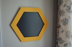 GEOMETRIC CHALKBOARD FRAME Honeycomb Hexagon by Landkatie on Etsy