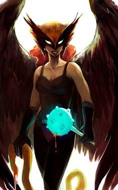 mistureba77:  (via Hawkgirl by *feyuca | DC Heroes  Villains)