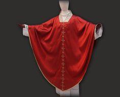Casula rossa gotica o medievale Red medieval chasuble