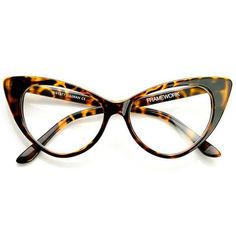 Vintage Inspired Frame Design Distinct Exaggerated Cat Eye Shape Reinforced Metal Hinges Clear Polycarbonate Lens 6 x 1 x 2 inches