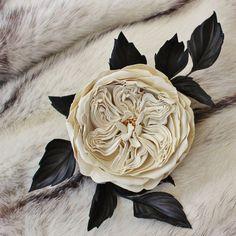 Leder-Blumen Leder-Jubiläum weißes von PresentPerfectStudio auf Etsy
