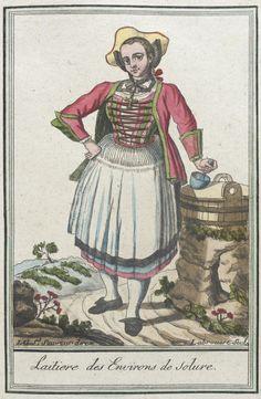 Costumes de Différents Pays, 'Laitiere des Environs de Solure' Labrousse, 1797.