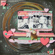 Chickaniddy Crafts DT project - June 2014 sketch - Twirly Girly & Date Night Collections