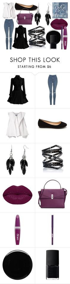 """OUAT:Regina Mills Outfit"" by sis-sleep-shades ❤ liked on Polyvore featuring Once Upon a Time, Topshop, Issey Miyake, Alexa Starr, Eva Fehren, Winky Lux, Henri Bendel, Max Factor, jane and Deborah Lippmann"